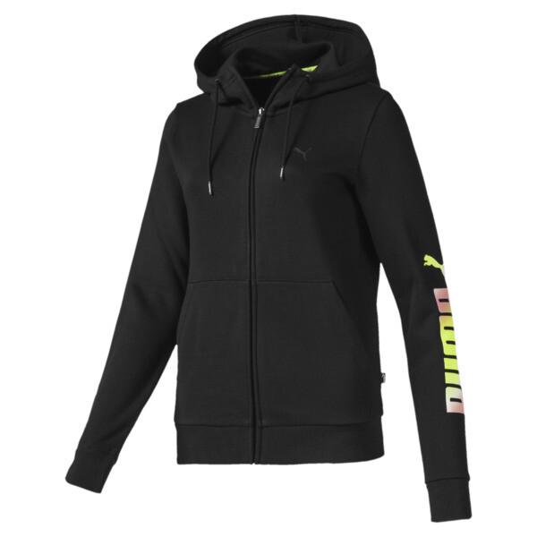 Essentials Women's Hooded Fleece Jacket, Puma Black, large