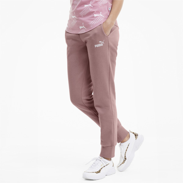 Stay warm and comfortable everywhere you go in these stylish sweatpants. | PUMA Essentials Women\\'s Fleece Sweatpants in Foxglove, Size S