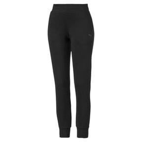 Thumbnail 1 of Essentials Women's Fleece Sweatpants, Puma Black, medium