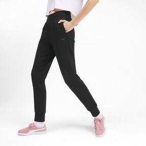Thumbnail 2 of Essentials Women's Fleece Sweatpants, Puma Black, medium