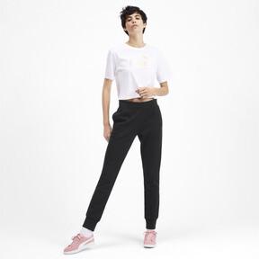 Thumbnail 4 of Essentials Women's Fleece Sweatpants, Puma Black, medium