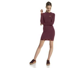 Thumbnail 2 of Evolution Damen Jersey Kleid, Burgundy, medium