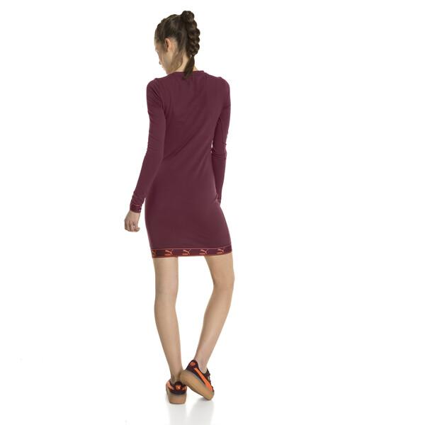 Evolution Damen Jersey Kleid, Burgundy, large