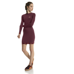 Thumbnail 5 of Evolution Damen Jersey Kleid, Burgundy, medium