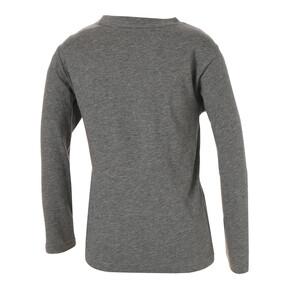 Thumbnail 2 of キッズ ESS LS Tシャツ (長袖), Medium Gray Heather, medium-JPN
