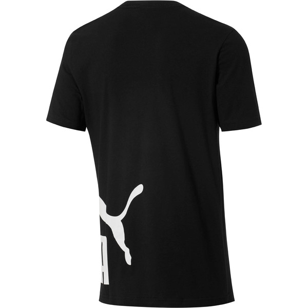 No. 1 Logo Wrap T-Shirt, Puma Black-Puma White, large