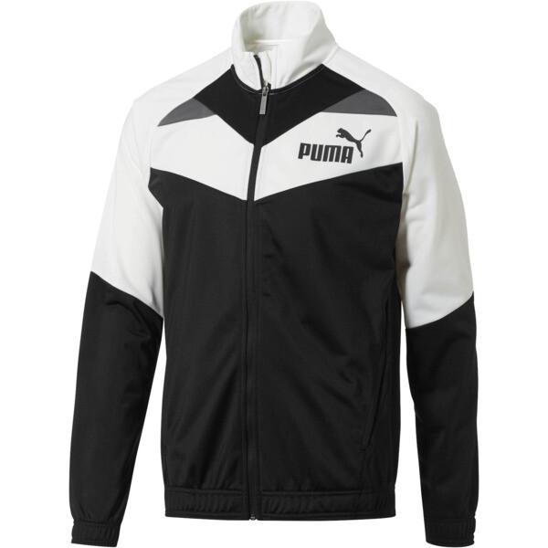 Iconic Tricot Jacket, Puma White-Puma Black, large