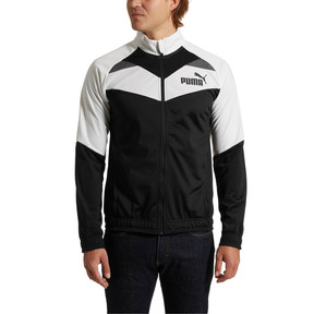 Thumbnail 2 of Iconic Tricot Jacket, Puma White-Puma Black, medium