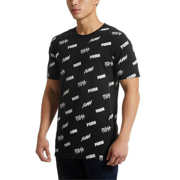 All Over SS T-Shirt, Puma Black-White, large