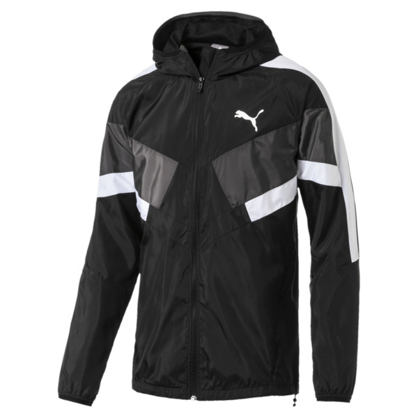 Men's Windbreaker + CB, Puma Black, large