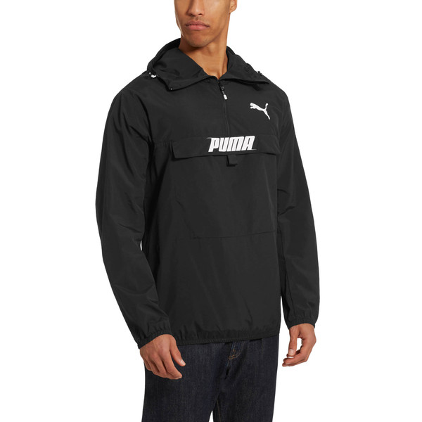 PUMA Men's Half Zip Jacket, Puma Black, large