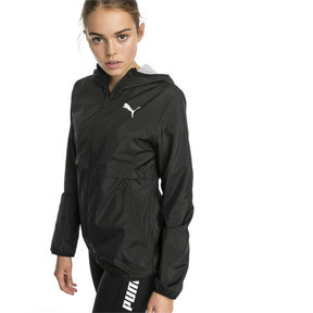 Thumbnail 1 of Hooded Zip-Up Women's Windbreaker, Puma Black, medium