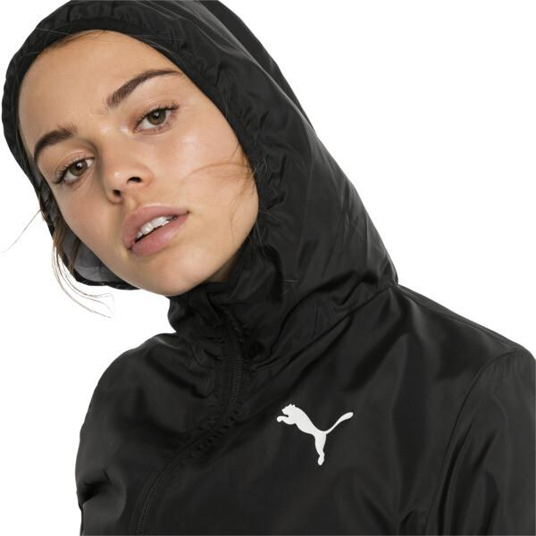 Hooded Zip-Up Women's Windbreaker, Puma Black, large