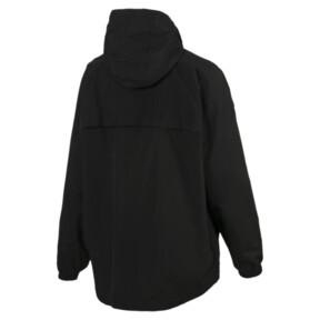 Thumbnail 2 of Modern Sports Half Zip Hooded Women's Windbreaker, Puma Black, medium
