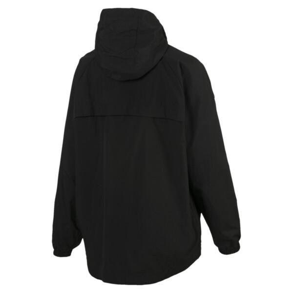 Modern Sports Half Zip Hooded Women's Windbreaker, Puma Black, large