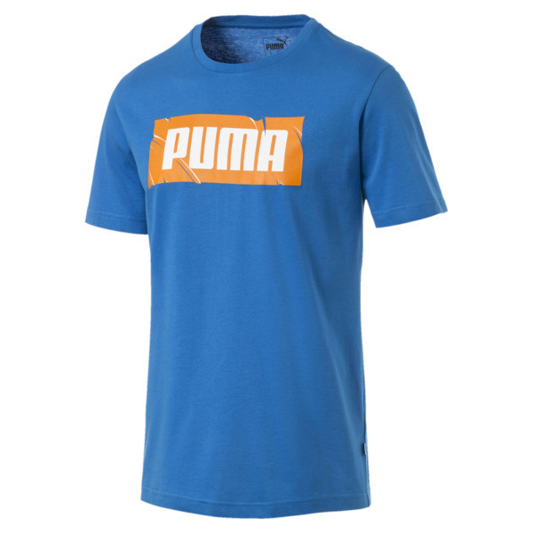 PUMA Wording Tee, Indigo Bunting, large