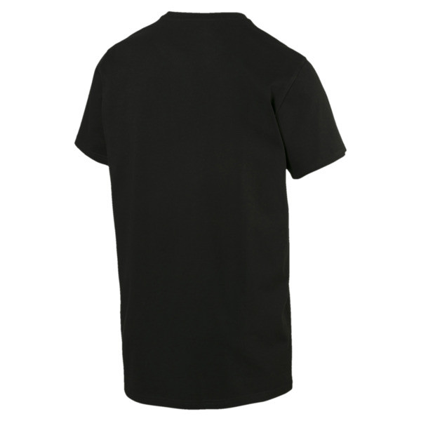 Men's Sneaker Tee, Cotton Black, large