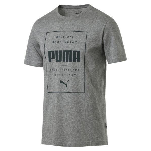 Box PUMA Tee, Medium Gray Heather, large