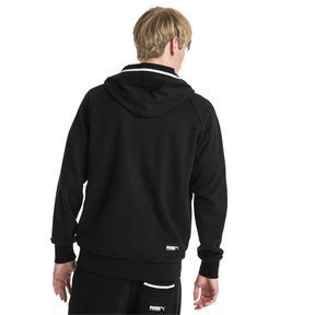 Thumbnail 2 of Athletics Men's Hooded Jacket, Cotton Black, medium