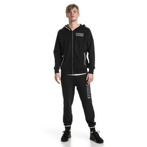 Thumbnail 3 of Athletics Men's Hooded Jacket, Cotton Black, medium