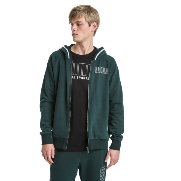 Athletics Men's Hooded Jacket, Ponderosa Pine, large