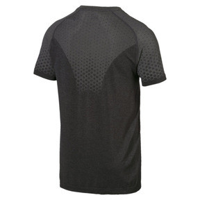 Thumbnail 3 of Evostripe Men's evoKNIT Tee, Puma Black, medium