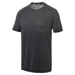Thumbnail 2 of Evostripe Men's evoKNIT Tee, Puma Black, medium