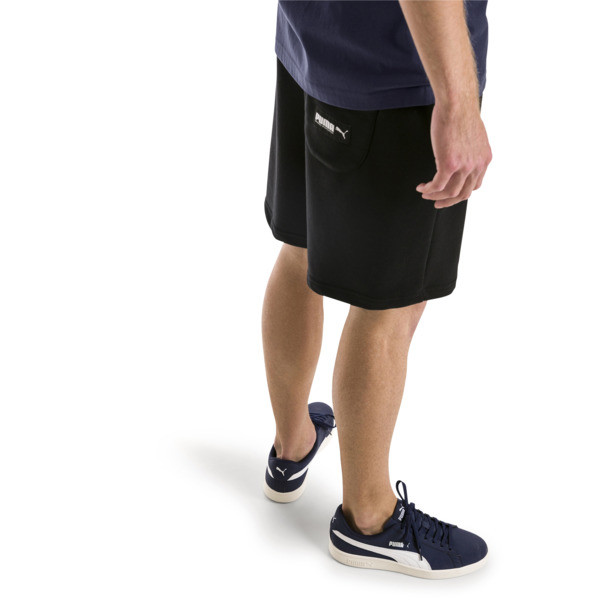 Athletics Men's Sweat Shorts, Cotton Black, large