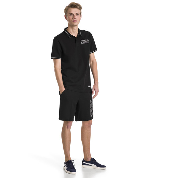 Athletics Men's Polo, Cotton Black, large