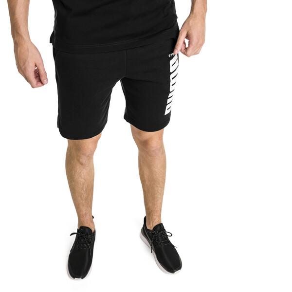 Short Athletics pour homme, Cotton Black, large