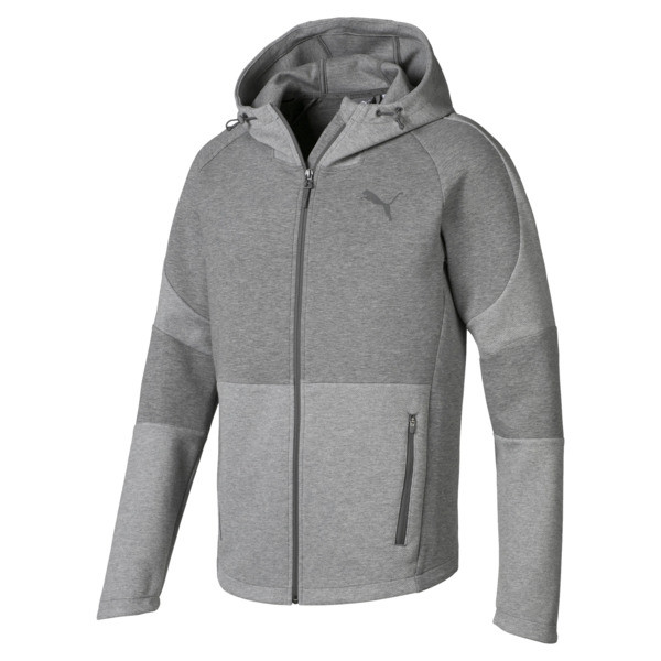 Blouson à capuche Evostripe Move pour homme, Medium Gray Heather, large
