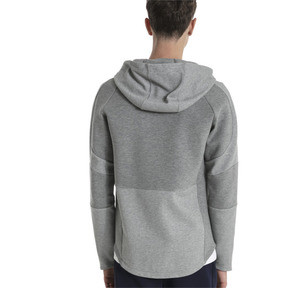 Thumbnail 2 of Blouson à capuche Evostripe Move pour homme, Medium Gray Heather, medium