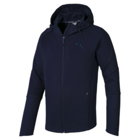 Thumbnail 4 of Blouson à capuche Evostripe Move pour homme, Peacoat, medium