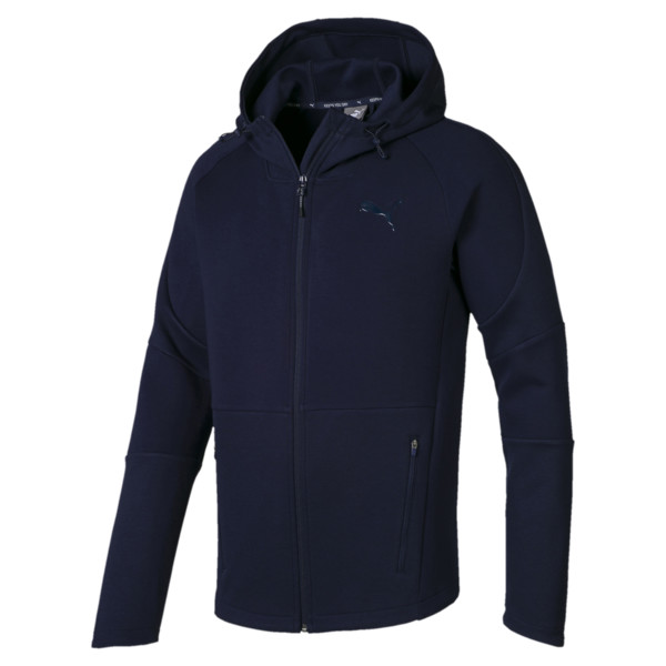 Evostripe Move Men's Hooded Jacket, Peacoat, large