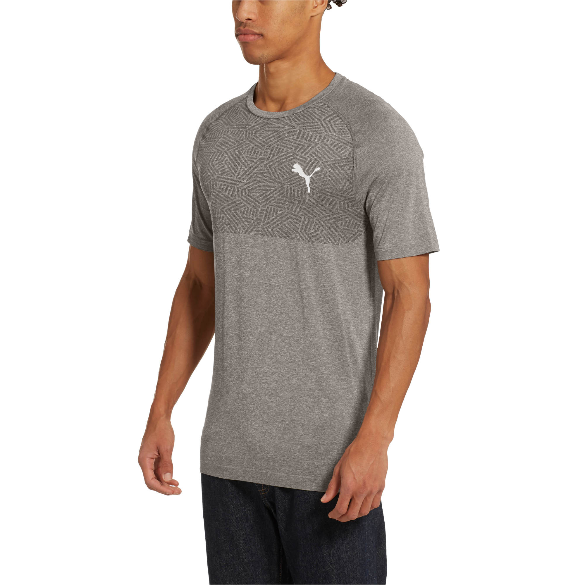 PUMA-Tec-Sports-Men-s-evoKNIT-Tee-Men-Tee-Basics thumbnail 7
