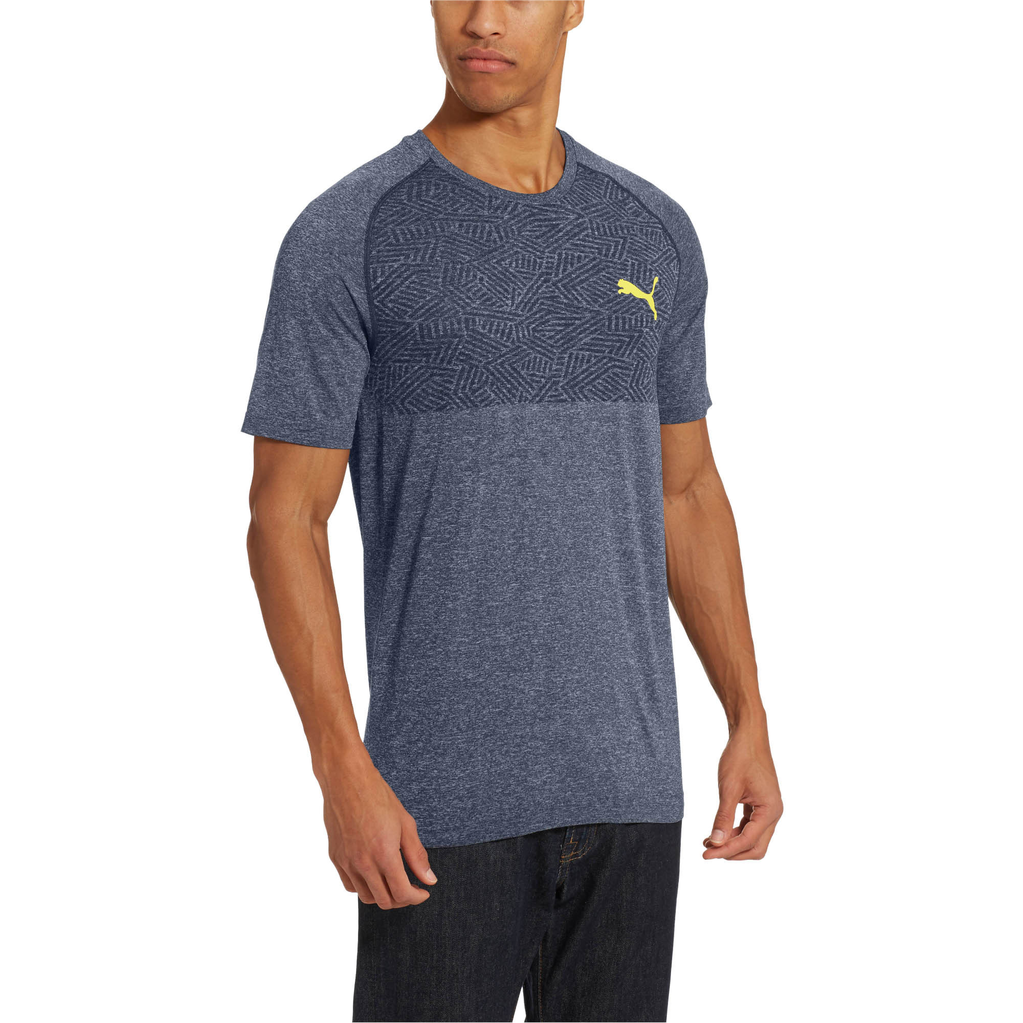 PUMA-Tec-Sports-Men-s-evoKNIT-Tee-Men-Tee-Basics thumbnail 4