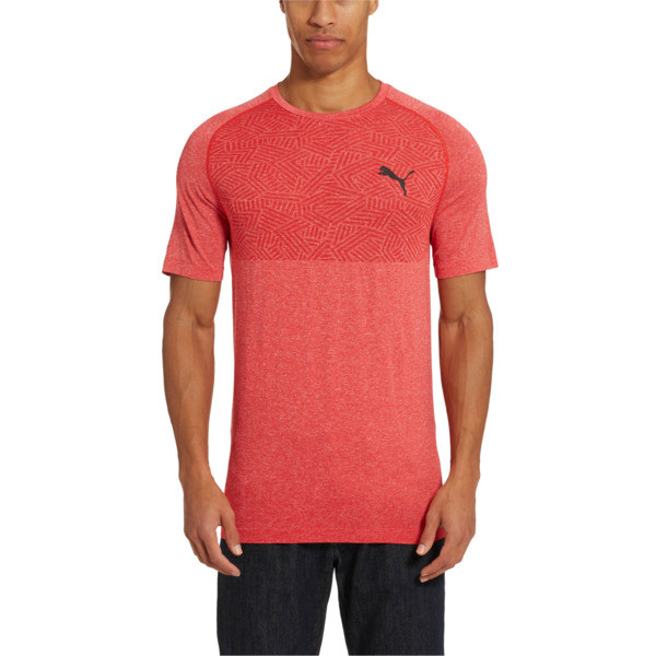 Tec Sports Men's evoKNIT Tee, High Risk Red, large