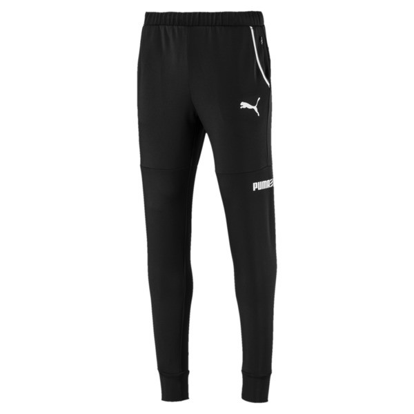 Active Tec Sports Men's Pants, Puma Black, large