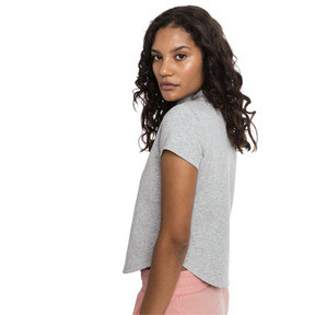Thumbnail 2 of Evostripe Move Women's Sweat Tee, Light Gray Heather, medium