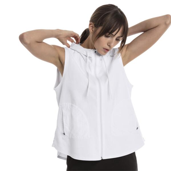 Evostripe Lite Women's Sleeveless Hooded Jacket, Puma White, large