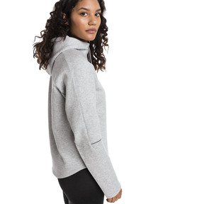 Thumbnail 2 of Evostripe Move Women's Hoodie, Light Gray Heather, medium