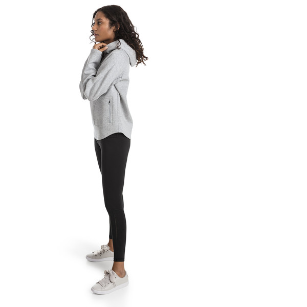 Evostripe Move Women's Hoodie, Light Gray Heather, large