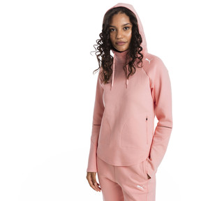 Thumbnail 1 of Evostripe Move Women's Hoodie, Peach Bud, medium