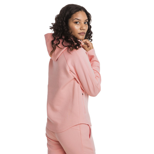 Evostripe Move Women's Hoodie, Peach Bud, large