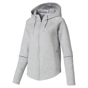 Thumbnail 4 of Evostripe Move Zip-Up Women's Hoodie, Light Gray Heather, medium