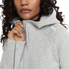 Thumbnail 1 of Evostripe Move Zip-Up Women's Hoodie, Light Gray Heather, medium