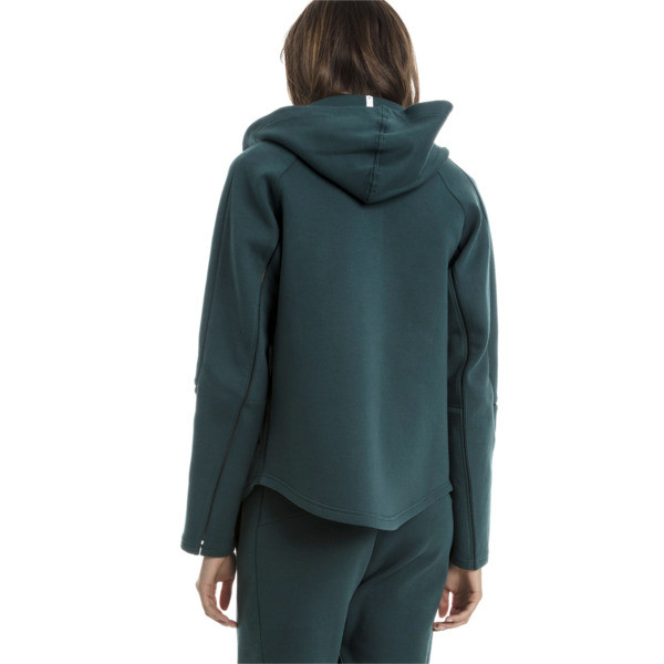 Evostripe Move Zip-Up Women's Hoodie, Ponderosa Pine, large