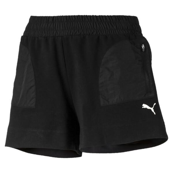 Evostripe Lite Women's Shorts, Cotton Black, large