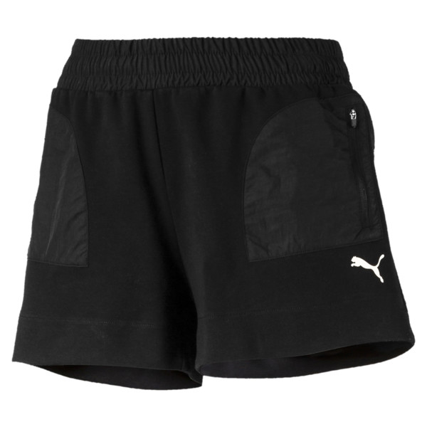 Evostripe Lite Women's Shorts, Cotton Black, large