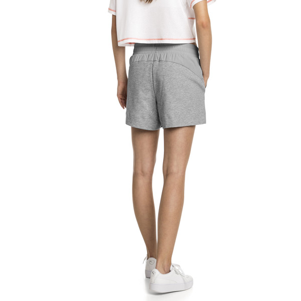 Evostripe Lite Women's Shorts, Light Gray Heather, large